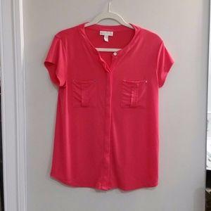 2 pocket blouse/cap sleeves/size medium